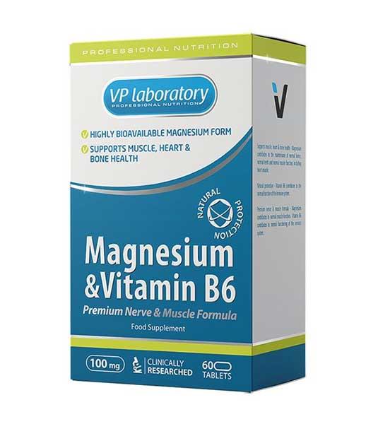Vplab Magnesium Vitamin B6 60 таблеток